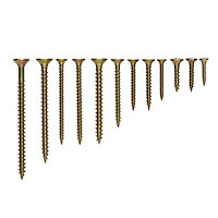 Diall Yellow zinc-plated Carbon steel Wood Screw, Set of 600