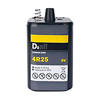 Diall Zinc carbon batteries Non rechargeable 4R25 Battery