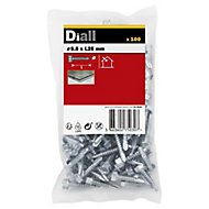 Diall Zinc-plated Carbon steel Metal Screw (Dia)5.5mm (L)25mm, Pack of 100
