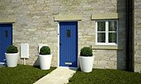 Diamond bevel Glazed Cottage Primed White LH & RH External Front Door, (H)1981mm (W)838mm