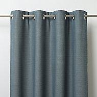 Digga Blue Diamond Unlined Eyelet Curtain (W)140cm (L)260cm, Single
