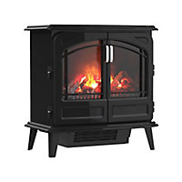 Dimplex Opti-Myst Grand Noir Cast enamel effect Electric Stove