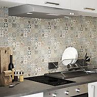 Diriana Multicolour Stone effect Natural stone Mosaic tile sheet, (L)300mm (W)300mm