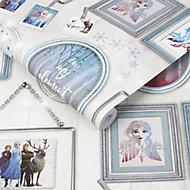 Disney Frozen Multicolour Frames Metallic effect Smooth Wallpaper