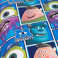 Disney Monsters Inc Monsters University Blue, green & purple Single Bedding set