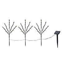 Diso Brown Tree Solar-powered LED Outdoor Stake light, Set of 3