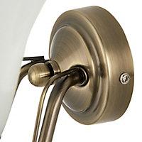 Dives Antique brass effect Double Wall light