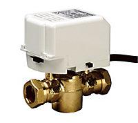 Drayton 2 Port Compression Motorised valve (Dia)22mm