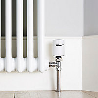 Drayton Wiser White Angled Thermostatic Radiator valve