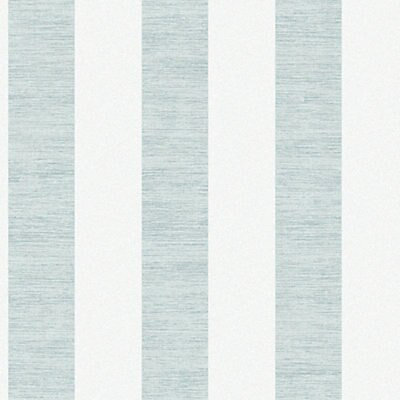 Duck egg Striped Wallpaper   DIY at B&Q