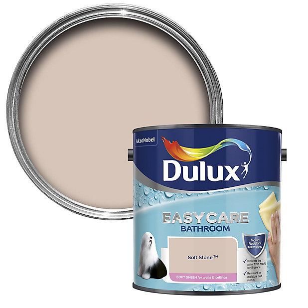 Dulux Easycare Bathroom Soft Stone Soft Sheen Emulsion Paint 2 5l Diy At B Q
