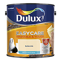 Dulux Easycare Buttermilk Matt Emulsion paint, 2.5L