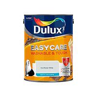 Dulux Easycare Cornflower white Matt Emulsion paint, 5L