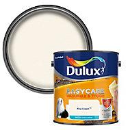 Dulux Easycare Fine cream Matt Emulsion paint, 2.5L