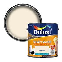 Dulux Easycare Ivory lace Matt Emulsion paint, 2.5L