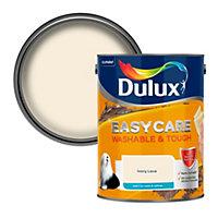 Dulux Easycare Ivory lace Matt Emulsion paint, 5L