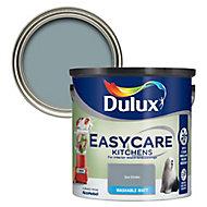 Dulux Easycare Kitchen Sea smoke Flat matt Emulsion paint, 2.5L