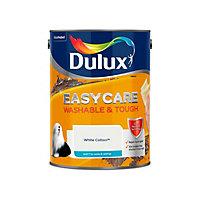 Dulux Easycare Washable & tough White cotton Matt Emulsion paint, 5L