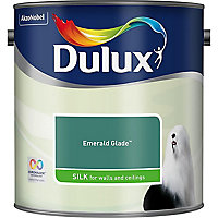Dulux Emerald glade Silk Emulsion paint, 2.5L