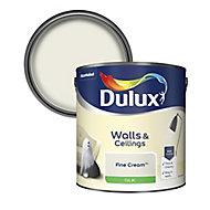 Dulux Fine cream Silk Emulsion paint, 2.5L