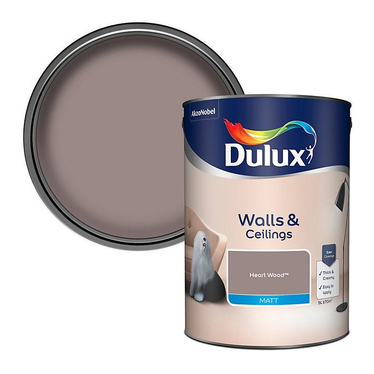 Dulux Heart wood Matt Emulsion paint 5L | DIY at B&Q