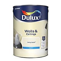 Dulux Ivory lace Matt Emulsion paint, 5L