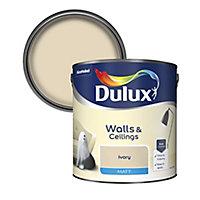 Dulux Ivory Matt Emulsion paint, 2.5L