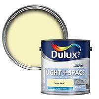 Dulux Light & space Lemon spirit Matt Emulsion paint 2.5L