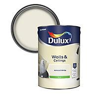 Dulux Luxurious Almond white Silk Emulsion paint, 5L