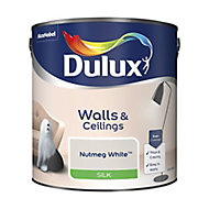 Dulux Luxurious Nutmeg white Silk Emulsion paint, 2.5L