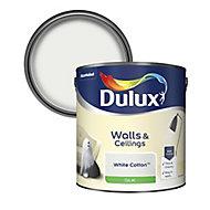 Dulux Luxurious White cotton Silk Emulsion paint, 2.5L
