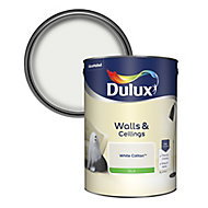 Dulux Luxurious White cotton Silk Emulsion paint, 5L