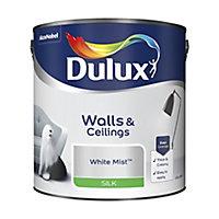 Dulux Luxurious White mist Silk Emulsion paint, 2.5L