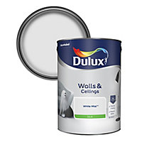 Dulux Luxurious White mist Silk Emulsion paint, 5L