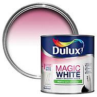 Dulux Magic Pure brilliant white Silk Emulsion paint, 2.5L