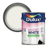 Dulux Magic Pure brilliant white Silk Emulsion paint, 5L