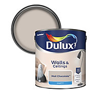Dulux Malt chocolate Matt Emulsion paint 2.5L