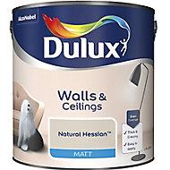 Dulux Natural hessian Matt Emulsion paint, 2.5L