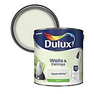 Dulux Natural hints Apple white Silk Emulsion paint, 2.5L