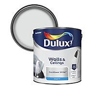 Dulux Natural hints Cornflower white Matt Emulsion paint, 2.5L