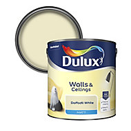 Dulux Natural hints Daffodil white Matt Emulsion paint, 2.5L