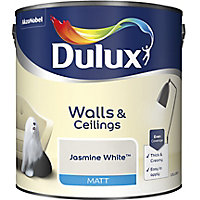 Dulux Natural hints Jasmine white Matt Emulsion paint, 2.5L
