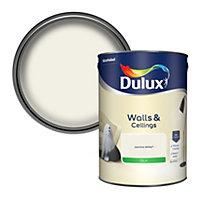 Dulux Natural hints Jasmine white Silk Emulsion paint, 5L
