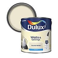 Dulux Natural hints Orchid white Matt Emulsion paint, 2.5L