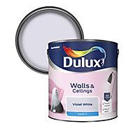 Dulux Natural hints Violet white Matt Emulsion paint, 2.5L