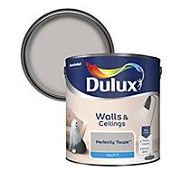 Dulux Neutrals Perfectly taupe Matt Emulsion paint, 2.5L