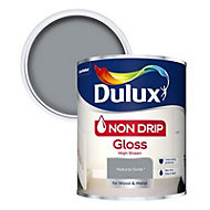 Dulux Non drip Natural slate Gloss Metal & wood paint, 0.75L