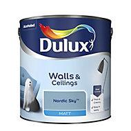 Dulux Nordic sky Matt Emulsion paint, 2.5L