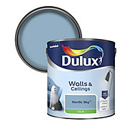 Dulux Nordic sky Silk Emulsion paint, 2.5L