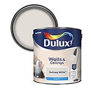 Dulux Nutmeg white Matt Emulsion paint, 2.5L